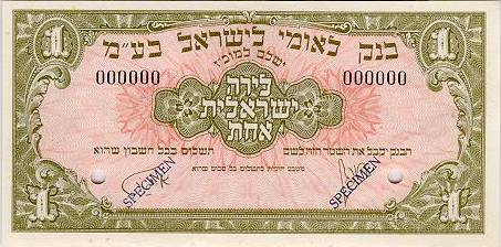 Bank Of Israel Past Notes Coins Series